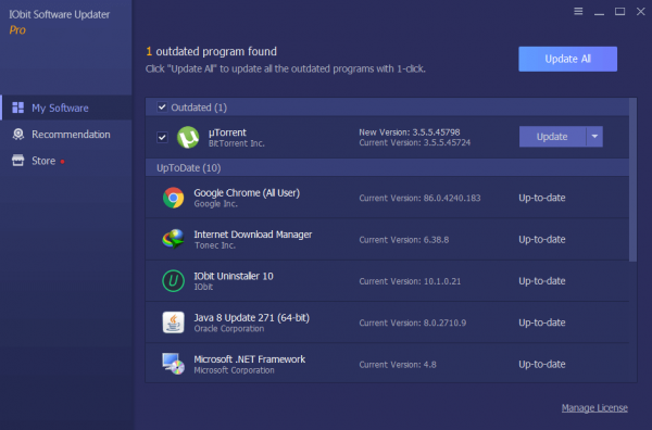 IObit Software Updater Pro Full Patch Tested Free Download